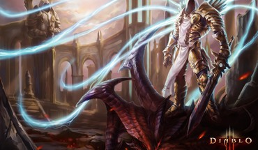 Art armor tyrael artwork diablo iii swords HD wallpaper