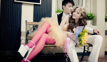 Women men couple asians fashion photography HD wallpaper