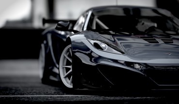 Black mclaren mp4 12c HD wallpaper