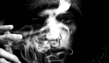 Abstract black smoke smoking HD wallpaper