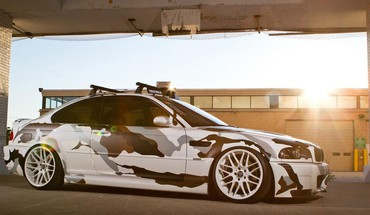 Sunset cars camouflage vehicles HD wallpaper
