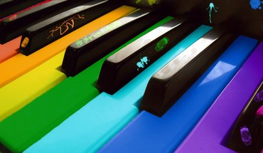Colors music piano HD wallpaper