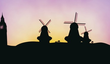 Hop 2011 cartoons silhouettes windmills HD wallpaper