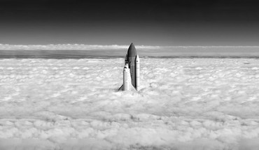 Space shuttle over earth HD wallpaper