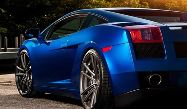 Lamborghini Gallardo blue  HD wallpaper
