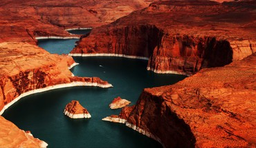 Spalvos Lake Powell  HD wallpaper