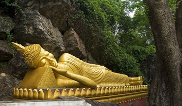 Buddha laos reclining HD wallpaper