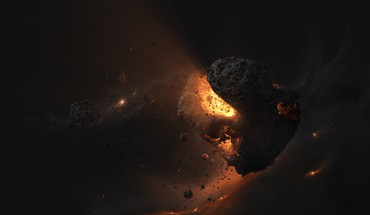 3ds max asteroids core light magma HD wallpaper