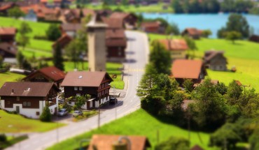 Tilt-shift depth of field resident HD wallpaper