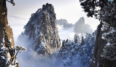 Huangshan mountains HD wallpaper