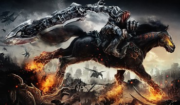 Evil dead darksiders horses awesomeness clown HD wallpaper