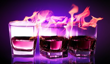 drinks de la flamme flammes  HD wallpaper