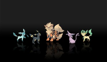 Pokemon espeon Jolteon arcanine leafeon glaceon  HD wallpaper