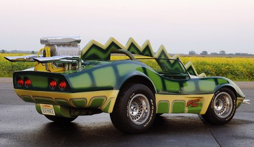 Cars roads chevrolet corvette green deathrace 2000 HD wallpaper