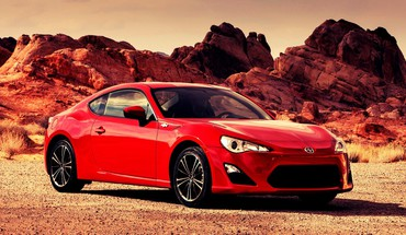 Scion cars red HD wallpaper