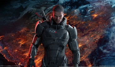 Galaxies effet de masse 3 commandant Shepard  HD wallpaper