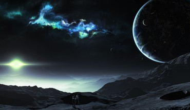 Tyler young artwork outer space planets HD wallpaper