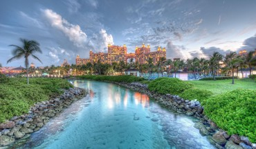 Atlantis Resort auf den Bahamas hdr  HD wallpaper