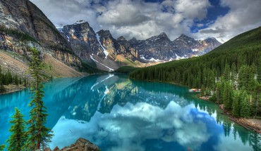 Landscapes nature lakes skies HD wallpaper