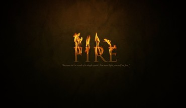 Text fire typography HD wallpaper
