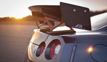 Sunset cars vehicles jdm nissan r35 gt-r taillights HD wallpaper