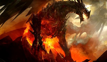 Menas iliustracijų Guild Wars 2 GW2 Bahamut  HD wallpaper