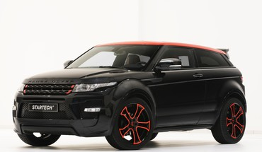 Black range rover evoque startech HD wallpaper