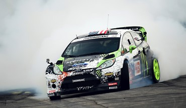 Ken block fiesta monster energy drifting drift HD wallpaper
