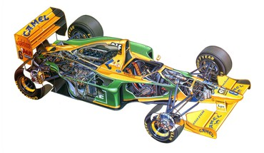 1993 benetton ford formula one cutaway drawings HD wallpaper