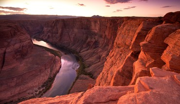 Sunset landscapes nature horseshoe bend HD wallpaper