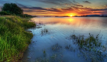 Wonderful sunset hdr HD wallpaper