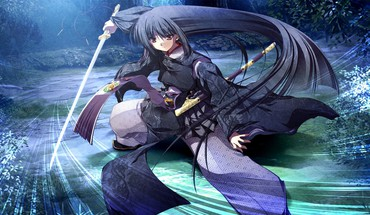 Katana visual novels swords natsu no owari nirvana HD wallpaper