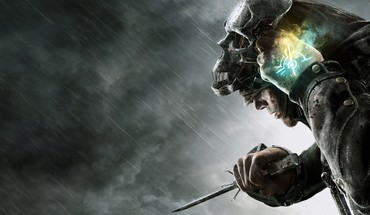 Games clouds rain storm steampunk artwork dishonored HD wallpaper