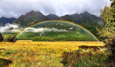 Landscapes rainbows HD wallpaper