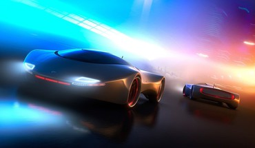 Race 3d sport cars HD wallpaper