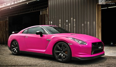 Pink cars nissan gt-r HD wallpaper