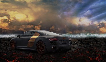 Clouds cars HD wallpaper