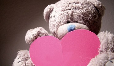 Hearts love teddy bears HD wallpaper
