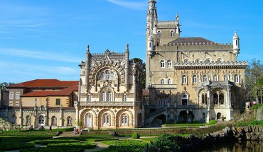 Hotel palace of bussaco portugal architecture buildings HD wallpaper