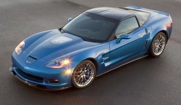 voitures bleues Chevrolet Corvette ZR1 Lights  HD wallpaper