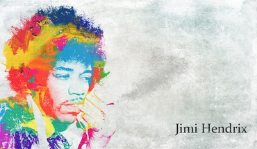 Jimi hendrix guitarists multicolor music paintings HD wallpaper