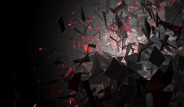 Abstract black and red shapes HD wallpaper