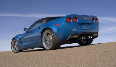 Chevrolet corvette zr1 blue cars HD wallpaper