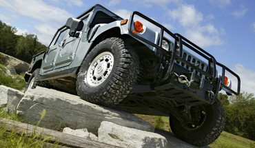 Hummer h1 climbing rocks vehicles HD wallpaper