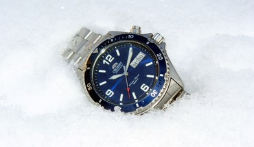 Watch orient mako blue HD wallpaper