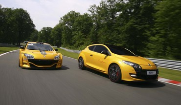 Renault megane rs trophy cars yellow HD wallpaper