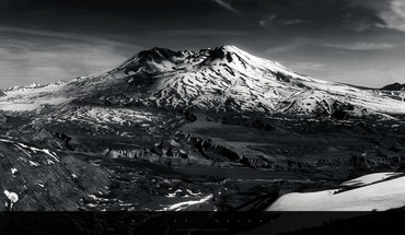Monochrome mountains snow HD wallpaper