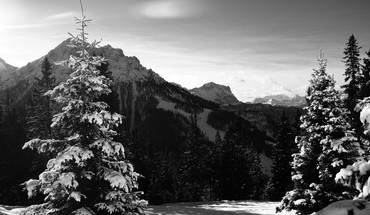 Alps italy kronplatz grayscale landscapes HD wallpaper