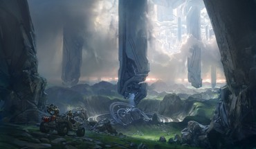 Video Spiele futuristische Grafik Halo 4 HD wallpaper