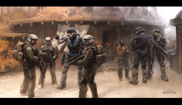Halo reach black borders HD wallpaper